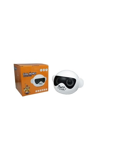 iCutes Cool Monkey Gözlüklü Maymun Siyah Kablosuz Bluetooth Hoparlör USBli-SD kartlı-Radyolu M205 Siyah